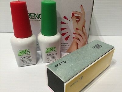 SNS Signature Nail Systems GEL Base & Gel Top. NEW With SNS 4way File