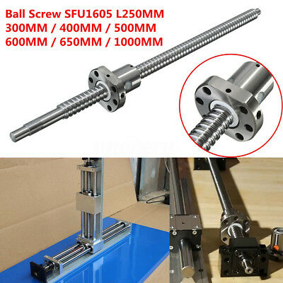 C7/SFU1605 L250/300/400/500/600/650/1000MM Ball Screw + Single Ballnut For CNC