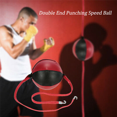 Boxing Training Double End Punching Speed Ball Striking Solid Leather MMA
