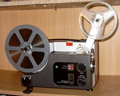 PROJECTOR HEAVEN, DUAL 8mm SILENT MOVIE PROJECTOR, SANKYO 1000H 100w SERVICED A1