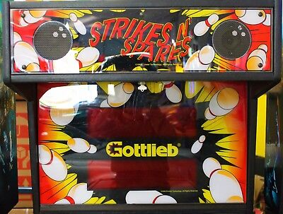 Strikes And Spares Gottlieb 1995 Pinball Machine Fully Serviced In Working Order