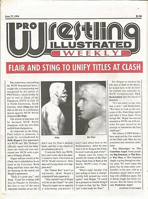 June 27 1994 Pro Wrestling Illustrated Weekly Magazine Wcw Ric Flair Sting Clash
