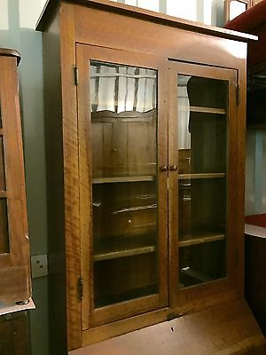 Antique Solid Cherry Butlers cabinet one piece c1830-1865 39w13d18d83h