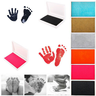 Newborn Reusable Safe Craft Non-Toxic Handprint Footprint Inkpad Toddlers Frugal