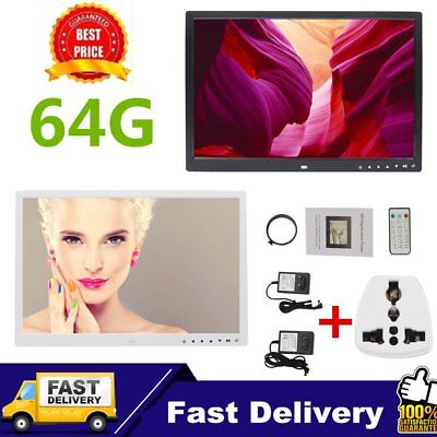 HD Digital Photo Frame 17inches Front Touch Buttons Multi-language LED Screen U1