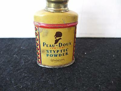 Vintage Peau-Doux Styptic Powder SAMPLE Powder Tin