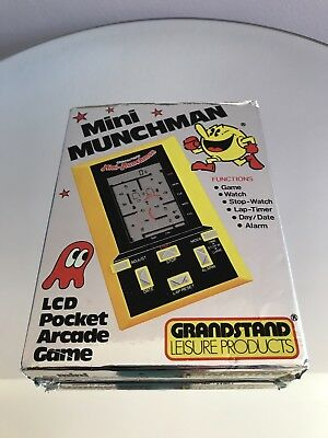 Vintage Mini Munchman (Pacman) LCD Pocket Arcade Game By Grandstand in Box