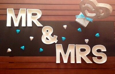 MR & MRS Ceramic Alphabet Dishes for Wedding Table Decoration / Lolly Buffet