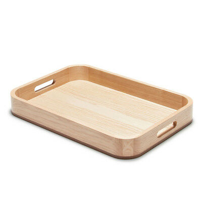 NEW S & P Butler Wooden Serving Tray Natural