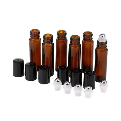 10ml Roll on Glass Bottle Essential Oil Perfume Roller Ball Bottle with Cap TY