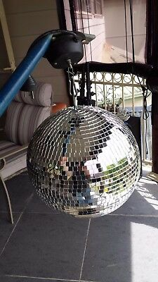 12 inch mirror ball, motor, pinspot light