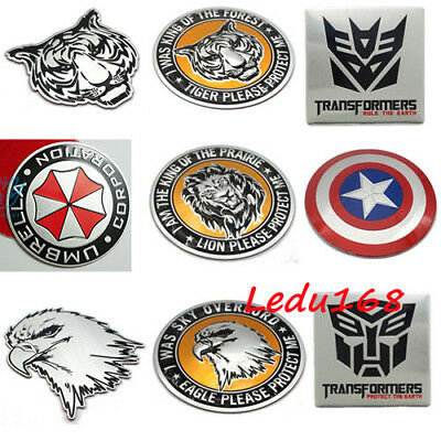 Metal Decals Stickers Alloy Head Badge Emblem For Motocycle Bike Car Computer