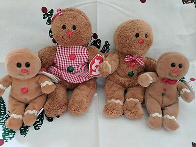 Hansel,Gretel, Sweeter&Sweetsy Gingerbread TY Beanie Babies (Walgreens Excl) (4)