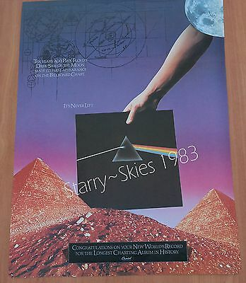 Pink Floyd Ten Years~Dark Side Of The Moon 1983 Vintage Promo Ad