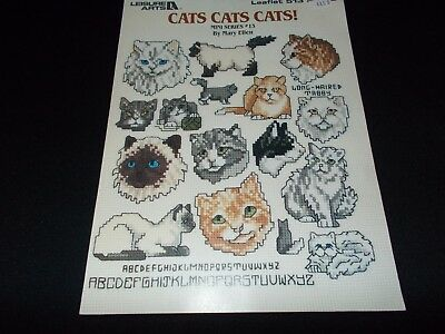 Cross Stitch Book~Mini Series Leaflet #13~Cats Cats Cats!~35 Small Cat Designs