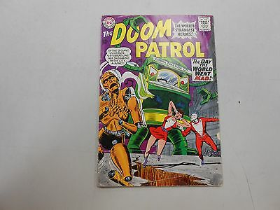 """Doom Patrol #96! (June 1965, DC)! VG4.0+! """"The Day the World Went Mad!"""" READ!"""