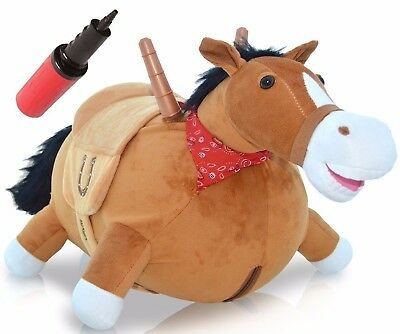 BOUNCY HORSE Hopper Mr Jones Inflatable Ride On Kids Toy Ridding Horse For Kids