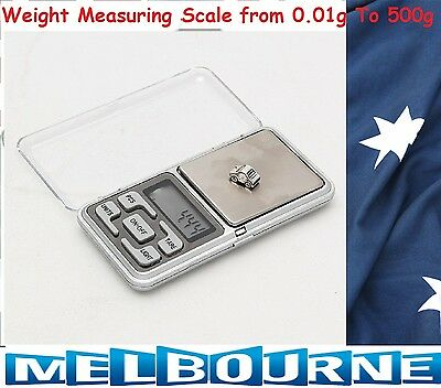 Weigh 500g 0.01 Digital Electronic Pocket Mini Jewellery Milligram Scale Micro #