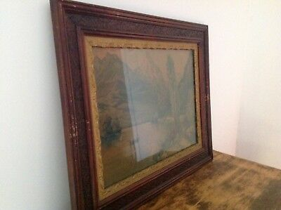 Antique Old Wood Picture Frame #2