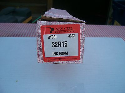 Syn Tac Precision Rolls Ryobi 3202 Ink Form Roller 32R15 New In Box