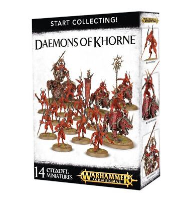 Warhammer 40k - Start Collecting! Daemons of Khorne -Brand New, Games Workshop