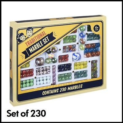 230 Set Glass Marbles Traditional Set Game Marble Toy Ball