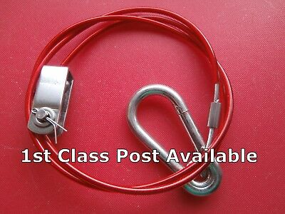 Ex. Heavy Duty Breakaway Cable fits Ifor Williams Trailer or Caravans Clevis Pin