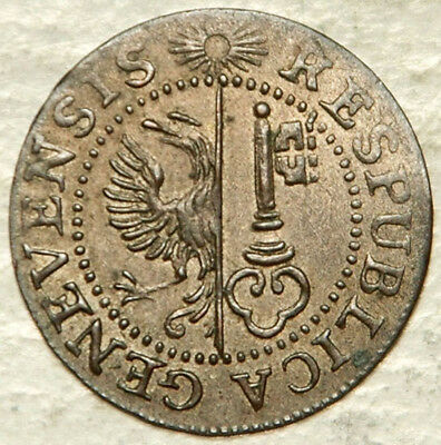 Switzerland (Geneva) 1 Un Sol 1785 (Scarce This Nice + Sought After!)