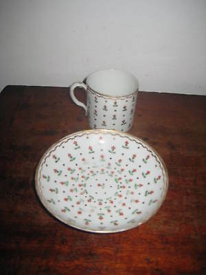 Charming English Coffee Cup & Saucer Bowl Early 19Th Century
