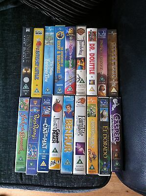 Childrens Films Vhs Video Tapes Many Titles Family