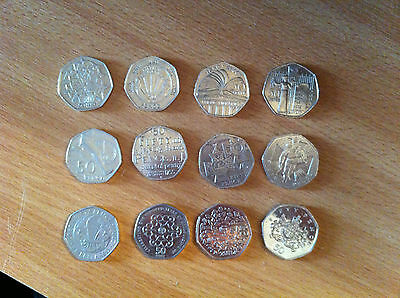 50P Fifty Pence British Coin Designs Various