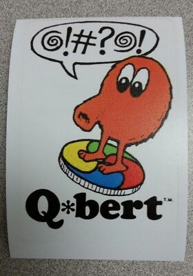 Q Bert on Disc sticker. 3.25 x 4.75. (Buy any 3 of my stickers, GET ONE FREE!)
