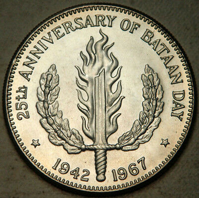 Philippines Silver 1 Peso 1967 (Lightly Toned Bu-Pl)