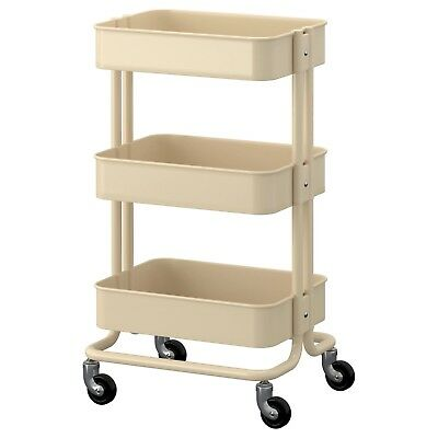RÅSKOG Trolley, Beige/Red/brown/White, 35x45x78 cm, Steel-IKEA Brand New