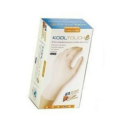 Unigloves kooltouch Lano-E Nitril puderfrei Prüfung Handschuhe - groß - Pack 150