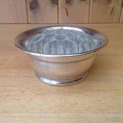 Vintage Silver Plated Posy Bowl With Glass Inner Arranger