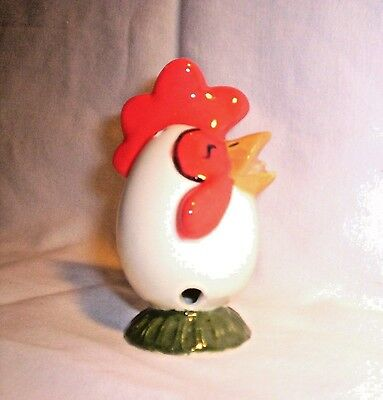 Chicken G156 13.CERC Ceramic Character Egg Crowing Rooster Pie Bird