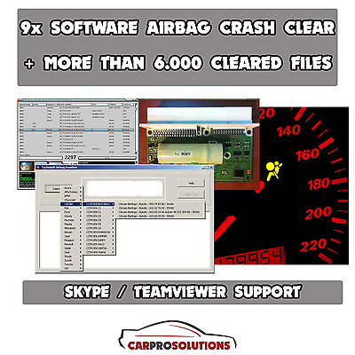 10x Software Utility to Remove Delete Repair Crash Data Reset SRS Airbag