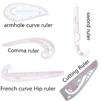 French Hip Curve Metric Sewing Ruler Measure Dressmaking Tailor Grading Making