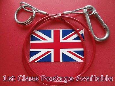 Pack x 2 Extra Heavy Duty Breakaway Cable fits Ifor Williams Trailer Caravan etc