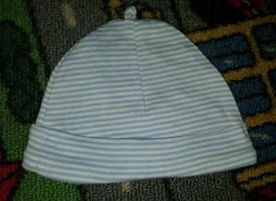 BABY BOYS Sz 00000 - 0000 Blue & White DYMPLES Striped Beenie CUTE!