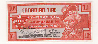 Canadian Tire 10¢ coupon note signed by Huw Thomas and Tom Gauld CTC S29-C07