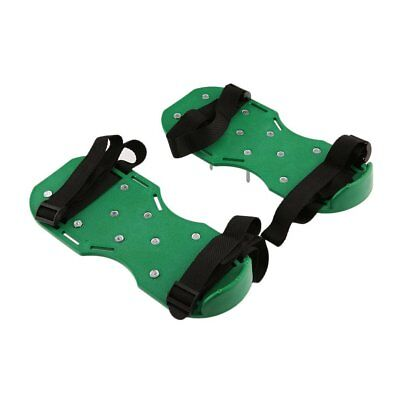 Garden Yard Lawn Aerator Aerating Sandals/Shoes 30x 13cm Spikes Green Cultivator