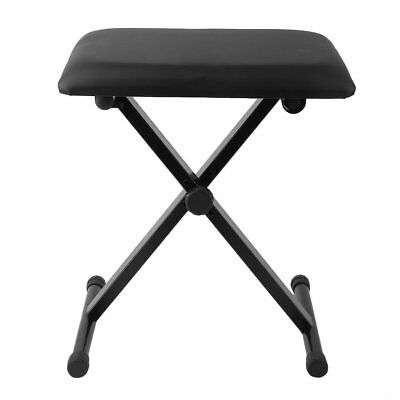 Pro X Frame Keyboard Bench Piano Stool Adjustable Height Padded Seat Music Bar