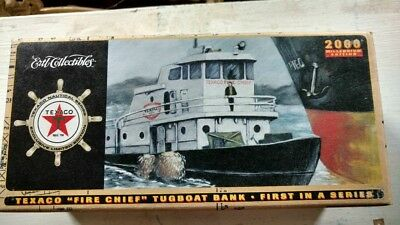 Texaco Fire Chief Tugboat Millennium Edition Collectible Diecast Coin Bank ERTL