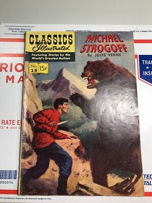 Classics Illustrated  #28 Michael Strongoff  - (Hrn 115)  Vg Condition