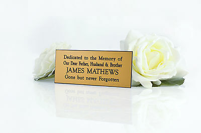 Personalised Engraved Golf brass effect memorial Bench plaque sign
