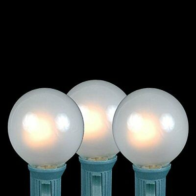 Novelty Lights 25 Pack G40 Outdoor String Light Globe Replacement Bulbs, Frosted
