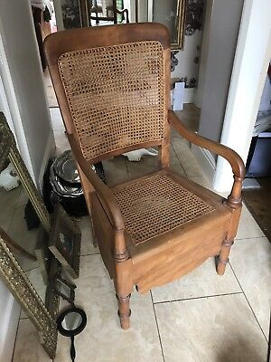 Victorian Commode Cane Back And Seat