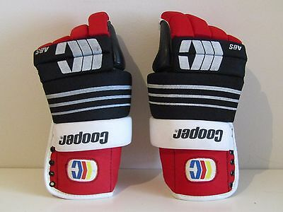 """Hockey Gloves Cooper ABS Dura Soft Palm 15""""- 36cm VERY Good Condition!!"""